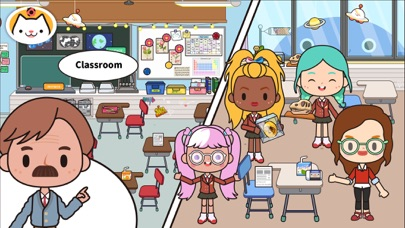 Screenshot for Miga Town: My School in Hong Kong App Store