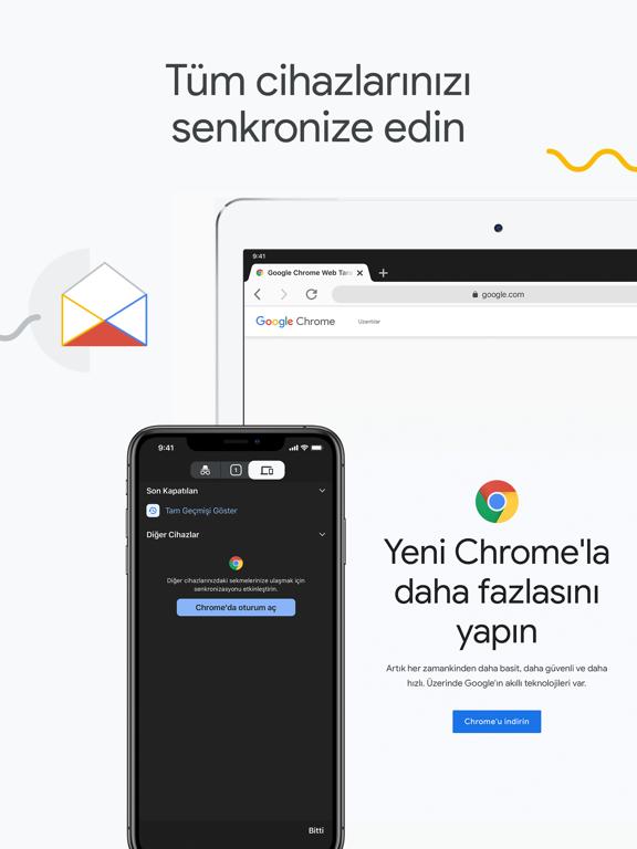 Google Chrome ipad ekran görüntüleri