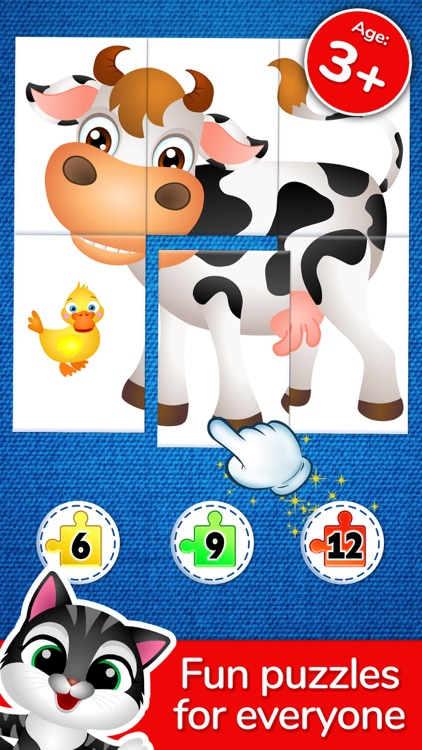 123 Kids Fun Puzzle Blue Games screenshot-0
