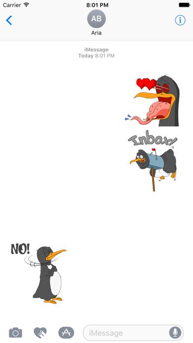Funny & Crazy Penguin Sticker screenshot 1