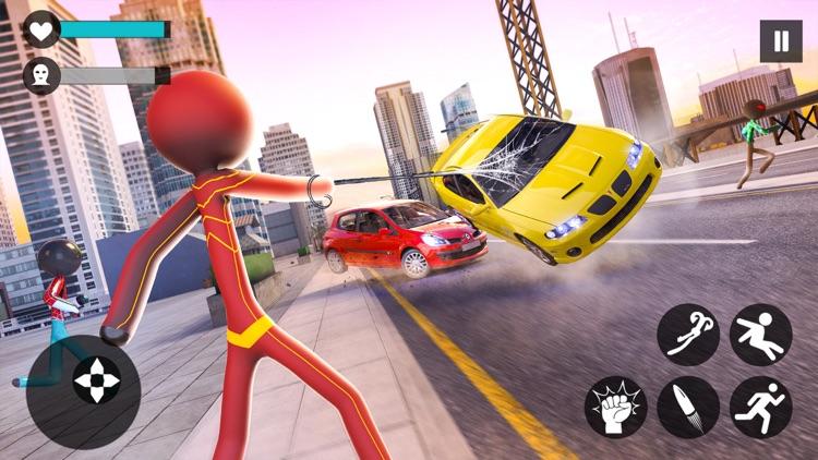 Grand Stickman Rope Hero screenshot-0