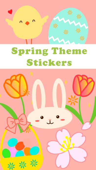 Spring Theme Stickers Screenshot