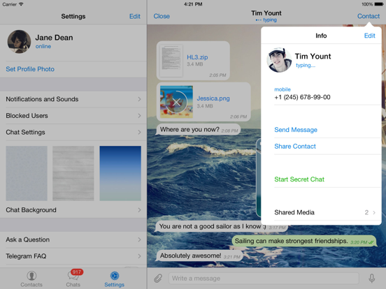 Telegram Messenger - Revenue & Download estimates - Apple