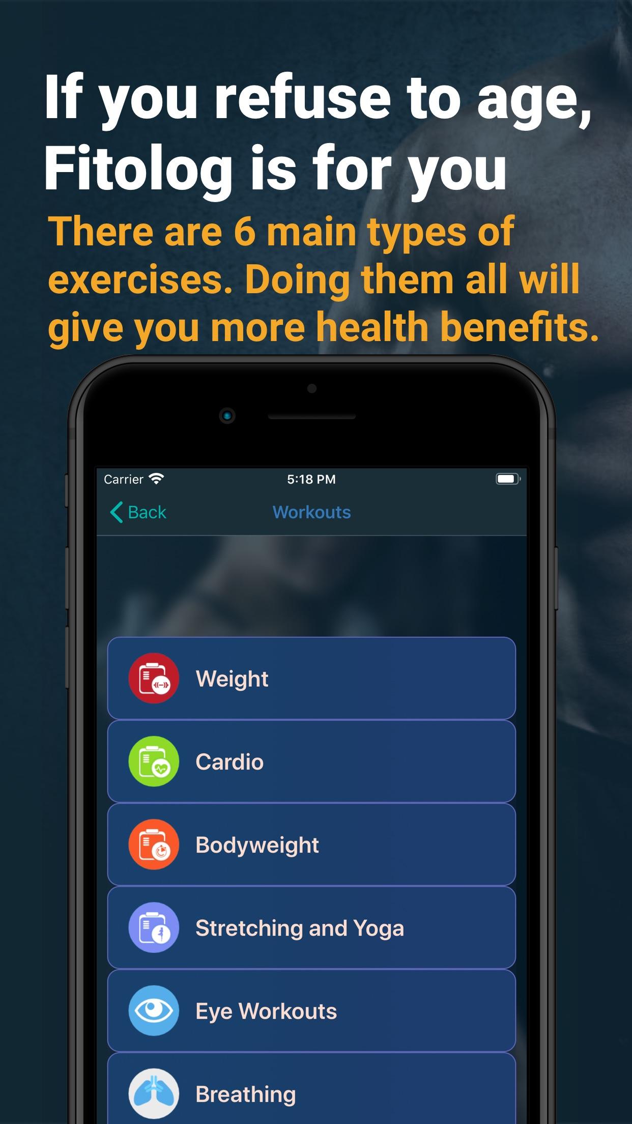 Fitolog - Fitness Activity Screenshot