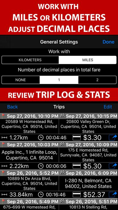 Taximeter. GPS taxi cab meter. Screenshot