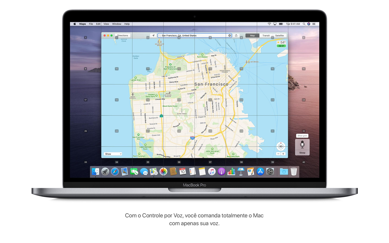 Screenshot do app macOS Catalina