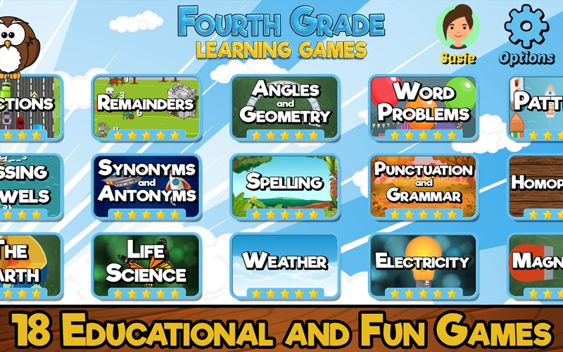 Fourth Grade Learning Games screenshot 1