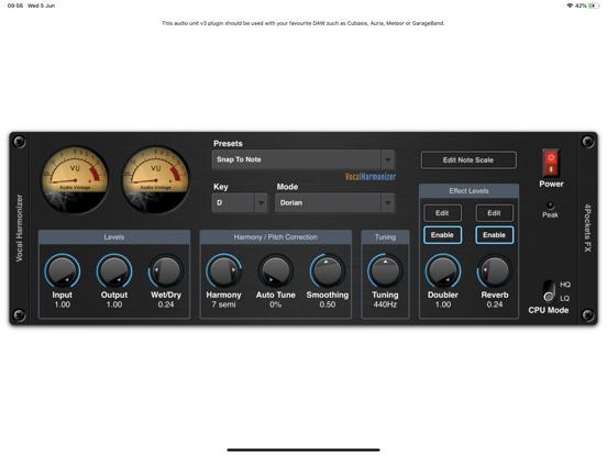 Vocal Harmonizer AUv3 Plugin screenshot 6