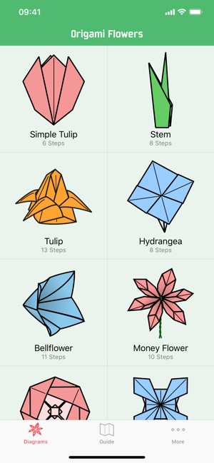 on origami flowers instructions diagram