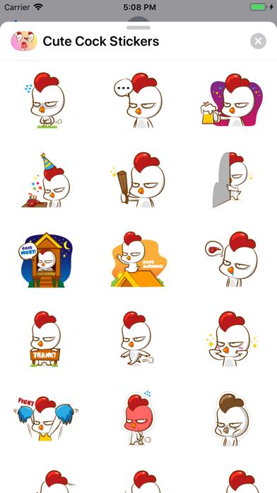 Cute Cock Stickers Screenshot