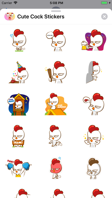 Cute Cock Stickers app image