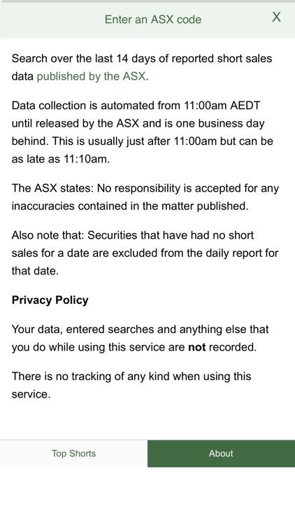 ASX Daily Gross Short Sales