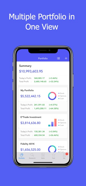 Active Portfolio with Alerts on the App Store