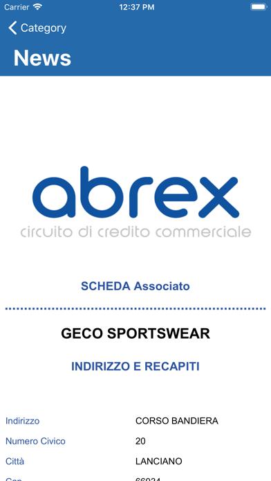 Screenshot of ABREX Circuito di Credito3