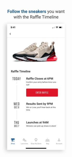 You'll have to enter a raffle to buy THIS pair of shoes