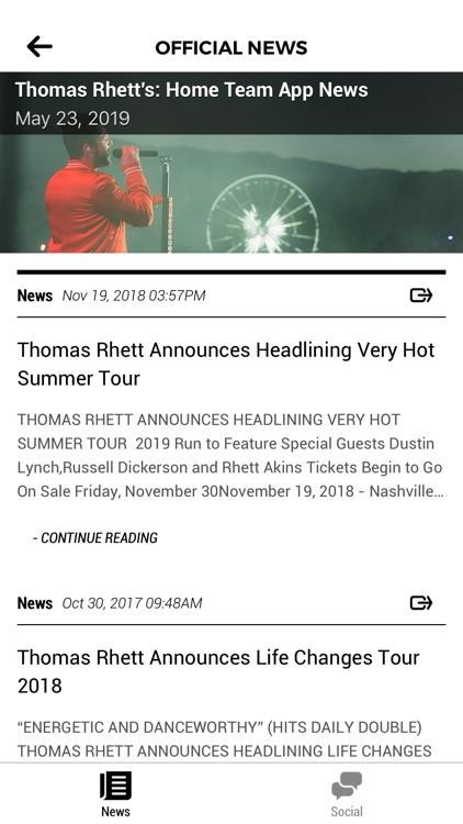 Thomas Rhett's: Home Team App screenshot-4