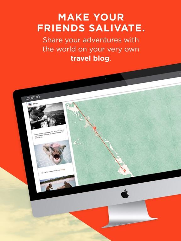 Journo Travel Journal and Blog screenshot