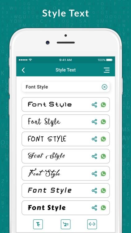 Style Text & Fancy Font Maker