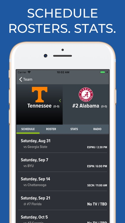 Alabama Football Schedules screenshot-9