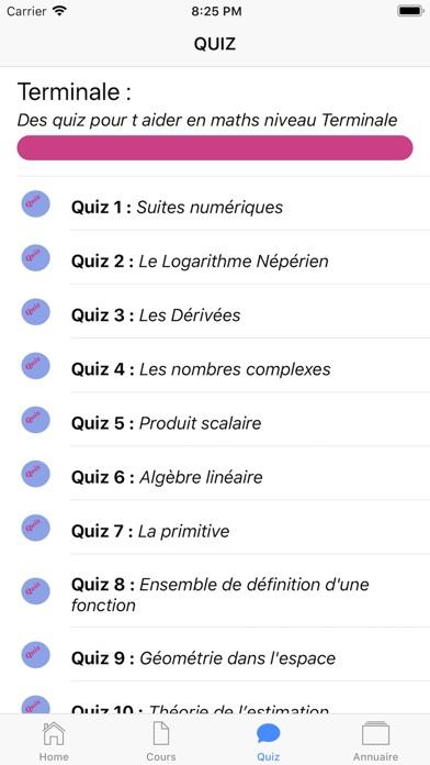 Maths Terminale S screenshot 5