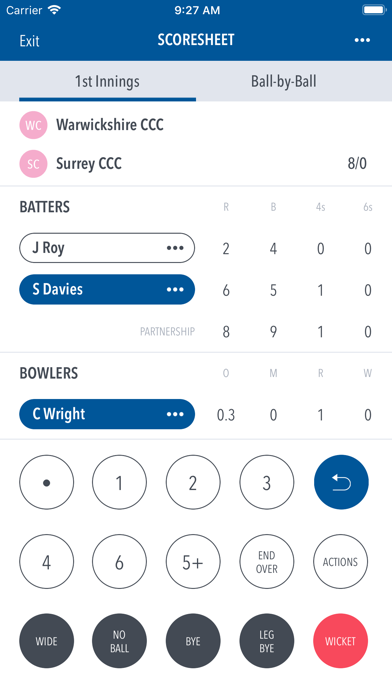 Play-Cricket Scorer screenshot one