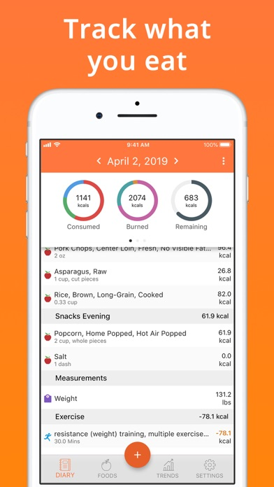 Screenshot for Cron-o-Meter Nutrition Tracker in Turkey App Store