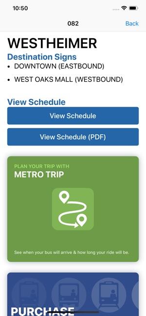 RideMETRO on the App Store