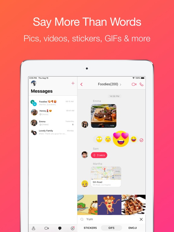 JusTalk - Best Free Video Call & Chat screenshot
