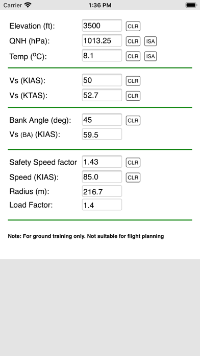 Screenshot of Turn radius App