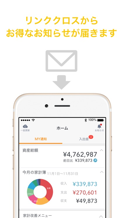 Linkx 家計簿 Powered by マネーフォワード