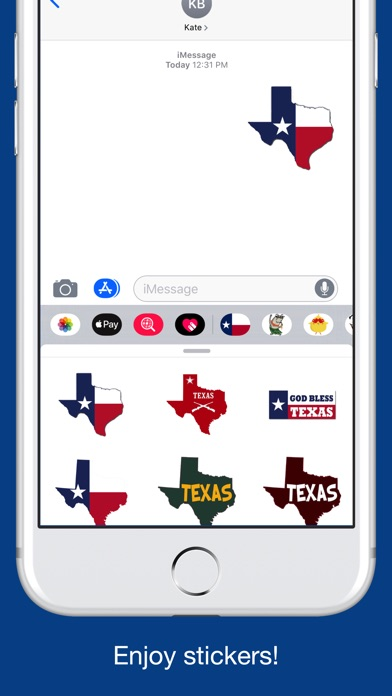 Texas emojis - USA stickers screenshot 5