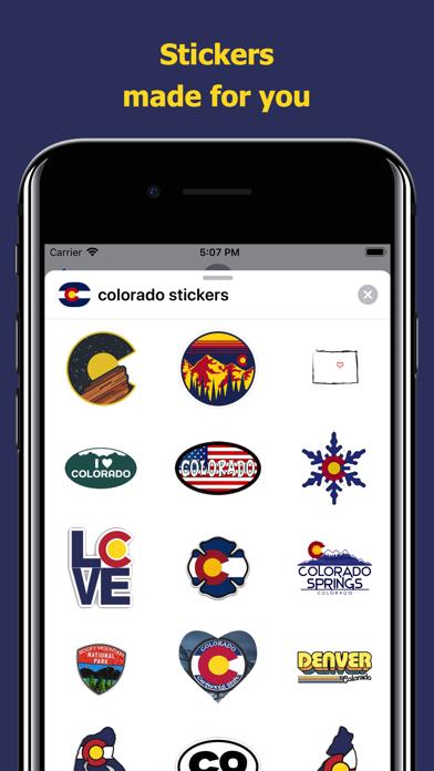 Сolorado emojis - USA stickers screenshot 1