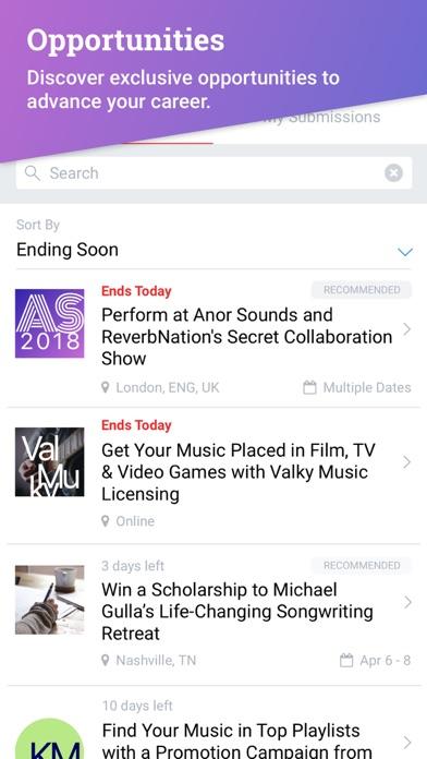 messages.download ReverbNation for Artists software
