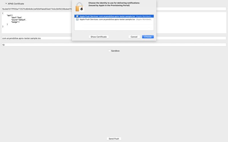 Скриншот из Push Notification - Tester