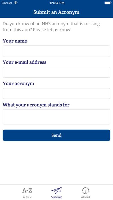 NHS Acronym Buster screenshot three