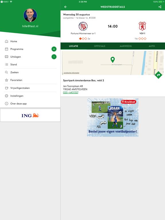 Voetbal.nl iPad app afbeelding 3