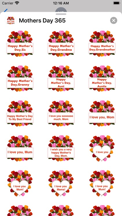 Mother's Day 365 Stickers screenshot-2