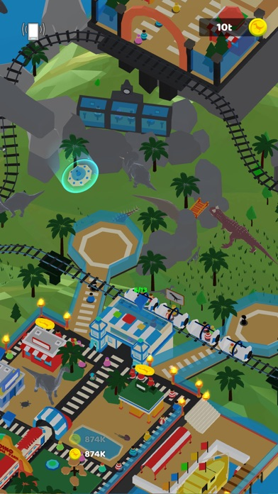 Idle Dino Theme Park screenshot 5