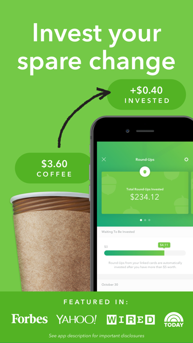 Screenshot for Acorns: Invest Spare Change in United States App Store