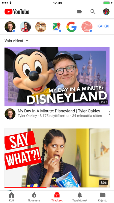 Screenshot for YouTube in Finland App Store