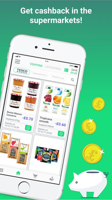 GreenJinn Cashback App UK screenshot one