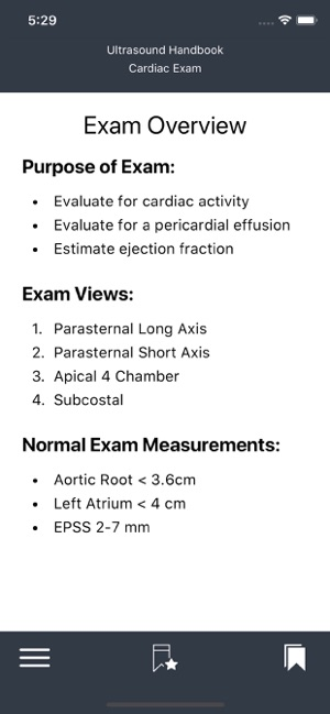 Emergency Ultrasound Handbook Screenshot