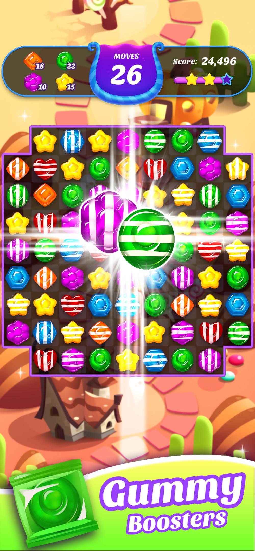 Gummy Candy Blast!Match 3 Game hack tool
