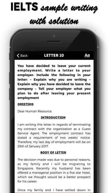 IELTS Letters