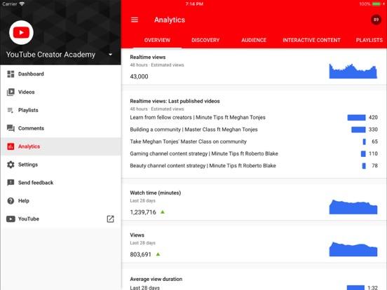 YouTube Studio-ipad-3