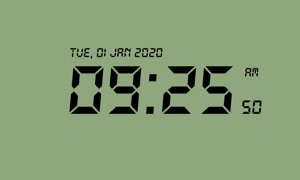Minimalist Retro Clock TV