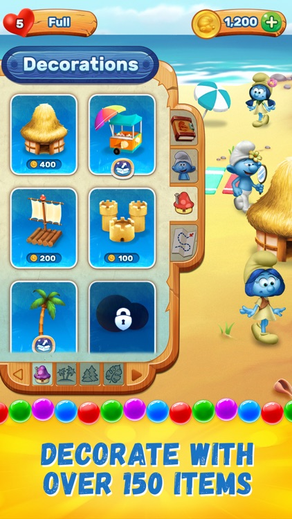 Smurfs Bubble Shooter Story screenshot-5
