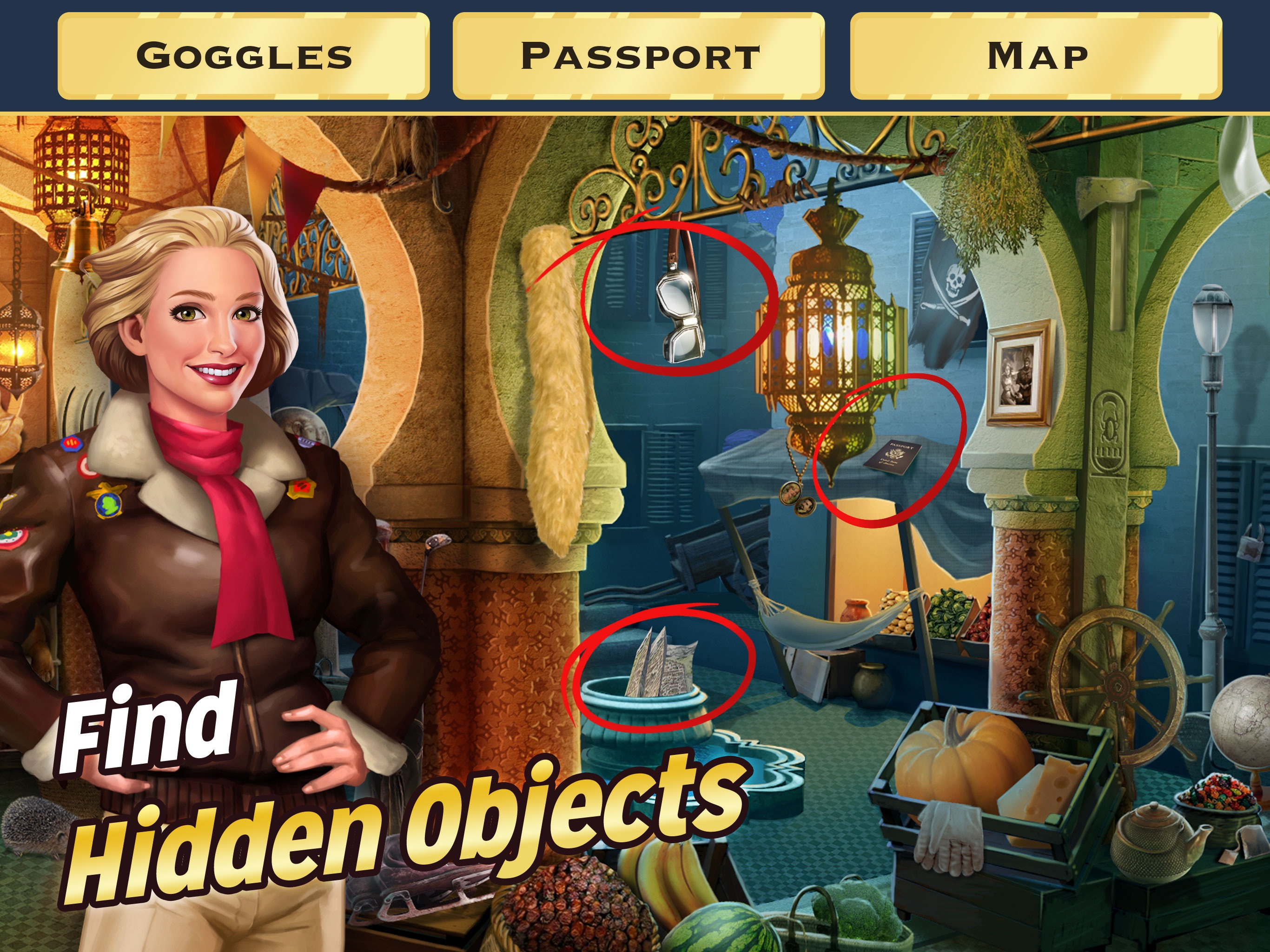 Pearl's Peril: Hidden Objects Screenshot