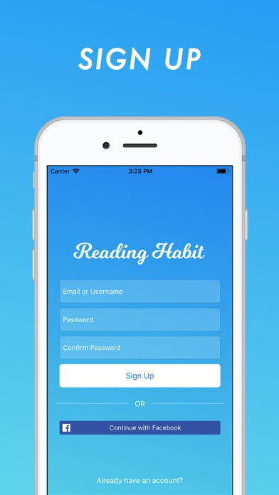 Reading Habit Screenshots