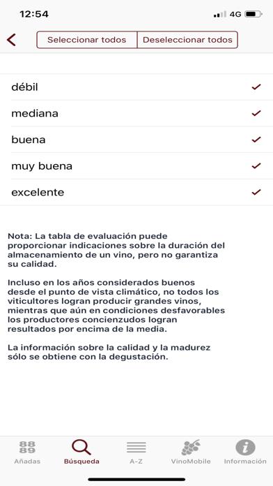 Screenshot for Añadas de vinos in Venezuela App Store
